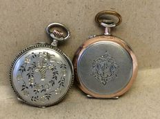Lot of 2 ladies' pocket watches 1910