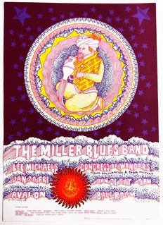 Hippie Dance Concert Steve Miller Blues Band Lee Michaels 1967 San Francisco Family Dog Poster