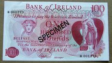 Northern Ireland - 1, 5, 10 and 100 pounds ND (1978) - Specimen - Pick CS1
