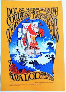 Dance Concert Country Joe & the Fish Moby Grape 1966 San Francisco Family Dog Poster