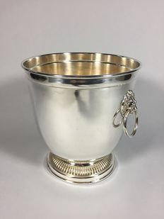 Silver plated wine cooler, second half 20th century
