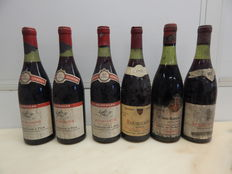 "3 x 1971 Burgundy Geisweler and son, 1 x 1978 Burgundy red large reserve, 1 x 1955 Vosne Romanee, Confrerie du Tastevin ""Cuvees Chandesais"", 1 x 1970 Mercurey Red Cave Vieil l'Eveque - 6 bottles"