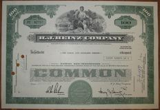 USA - H. J. Heinz Company - Share Certificate 1971 - stock certificate of famous Heinz Ketchup manufacturer