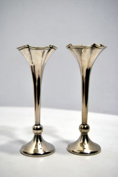 Pair of vases, Van Kempen, Holland, early 20th century
