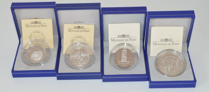 France - ¼ Euro 2002/2005/2007 (4 different) - silver
