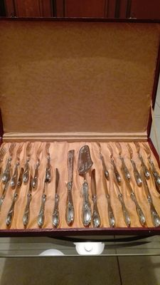 Dessert cutlery service - Solingen - Italy - Silver plated 800