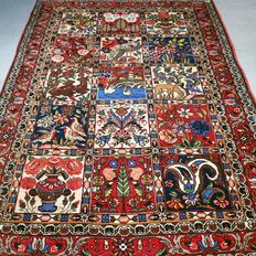 Superior tile pattern Ghom Persian carpet - 155 x 116 - collector's item - with certificate