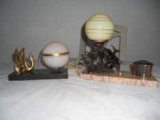 2 Design table or night lamps - art deco