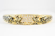 Carrera y Carrera – Bangle with leopard print and diamond and ruby