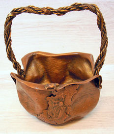 "Red copper work of art ""Heksenketel""- (cauldron) - unknown artist"