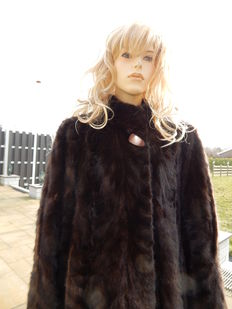 Brown - mink fur