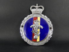 Vintage Chrome and Enamel REME Royal Electrical and Mechanical Engineers Car Badge Nice Condition 1960 / 1970