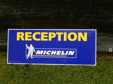 "Original Michelin Reception Aluminium Garage Sign Decent Size 25"" x 10"""