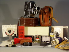 Paillard - Bolex B8 Film device set with original box, instructions for use and Purchase card - 1955