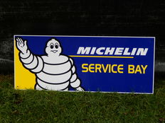 "Original Michelin Service Bay Aluminium Garage Sign Decent Size 25"" x 10"""