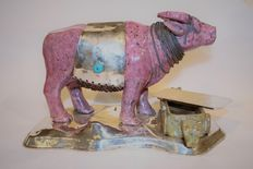 José Carlos Castro for J. Carlus - Sterling silver bison with cigar (box for chocolate / keys )
