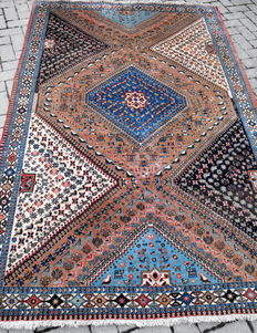 WONDERFUO YAMALEH PERSIAN CARPET, 150 X 243, WITH CERTIFICATE OF AUTHENTICITY