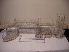 Set for bathroom /wrought iron 1930/France.