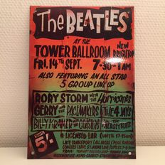 "Enamel Sign, ""the Beatles"" - Tower Ballroom - 1990"