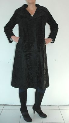 Black Swakara fur coat