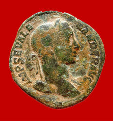 Roman Empire - Severus Alexander (222 - 235 A.D.), bronze sestertius (21,30 grs. 28 mm), from Rome mint, 230 A.D. IVSTITIA AVG.