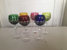 6 crystal wine glasses Nachtmann, Germany, second half of 20th century