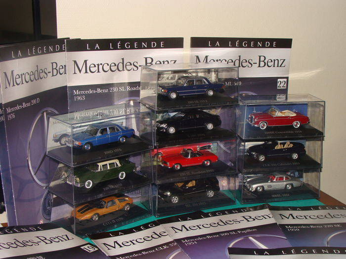 Ixo-Atlaya - Echelle 1/43 - Lot de 10 voitures de la collection Mercedes-Benz avec fascicules