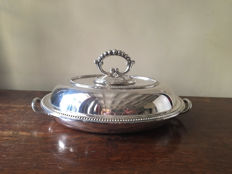 silver plated cover dish