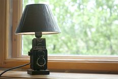 The lamp is made on the basis of the camera Amateur 2 (produced from 1955 to 1979) USSR.