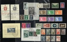 Luxembourg 1934/1960 – Selection of various emissions, incl. Block 7  – Michel 258/489