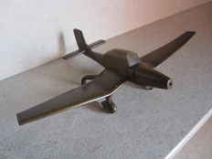 Bronze scale model Junkers JU-87, Germany, World War II fighter aircraft