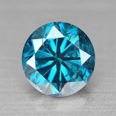 0.22 cts.  brilliant cut diamond Sparkling  Blue SI3