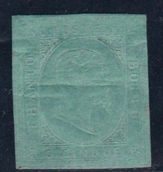 Sardinia 1853 5c green - Catalogue no. 4