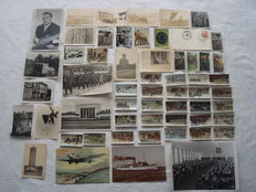 Third Reich; Lot of 56 pieces, original photos, postcards, collecting images, autograph Knight's cross holder from approx. 1930/1945 WW2