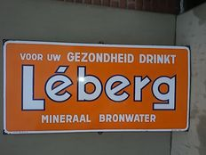 Emaille bord Léberg Mineraalwater