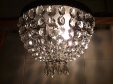 Gorgeous crystal ceiling lamp.