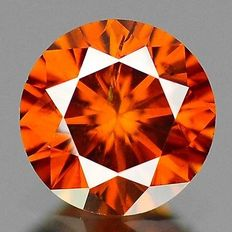 0.19 cts.  brilliant cut diamond Sparkling Red SI1