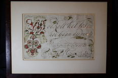 Graphic art; Lot with 2 old Dutch rhyme prints to the name of Leen Hendriks - 1797 / 1798