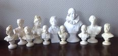 Collection of 11 busts