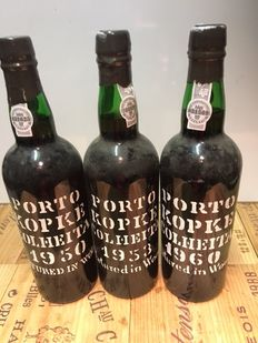 Kopke Colheita Port : 1950 bottled in 2000 - 1953 bottled in 2001 & 1960 bottled in 2000 - 3 bottles