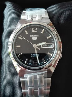 Seiko 5 Day Date - men's wristwatch -2016, never worn - 061.