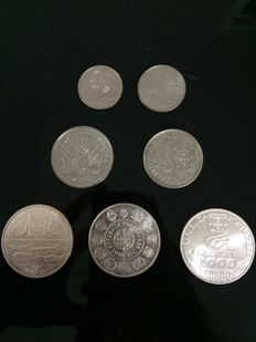 Portugal - Lot of 7 commemorative coins