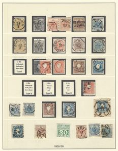 Collection of postal stamps, Austria from 1850