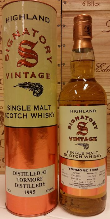 Tormore 20 years old - Vintage 1995 - Limited Edition - Bottled by Signatory Vintage (bottle No. 264)