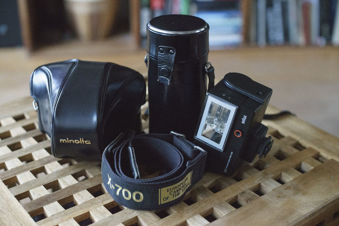 Minolta X-700 with lenses, flash and accessories