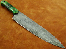 Original Damascus Kitchen Knife Mikata Knife , Chef Knife