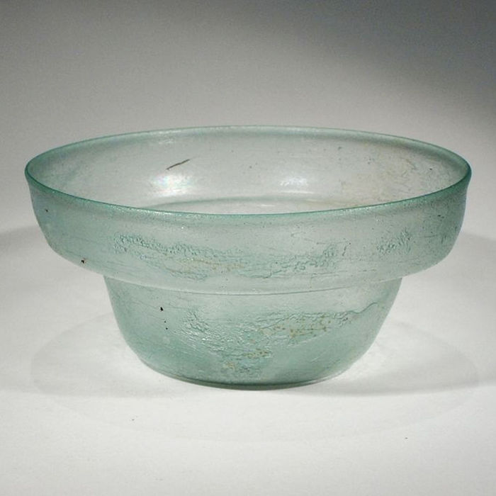 Ancient Roman glass lamp bowl - Diam. 10,5 cm