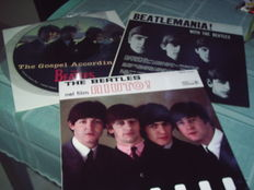 The Beatles : 2 lp Albums and one Picture Disc  :1 album on red vinyl from Italy/HELP! - 1 album from Canada/ BEATLEMANIA- 1 picture disc/INTERVIEW - LIMITED EDITION