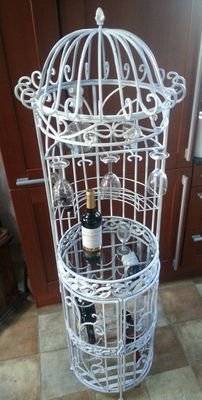 Great big wine bar in white wrought iron