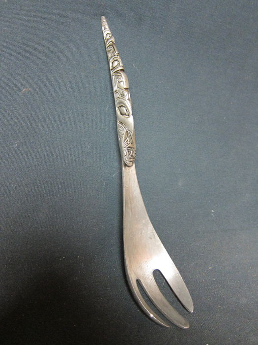 Tin Native American spoon/fork - HAIDA - Northern America
